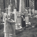 ED and MD visiting family graves, Ireland, 1936