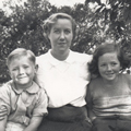 Elizabeth Durack with her children Michael and Perpetua